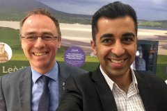 Alasdair with Humza Yousaf MSP at Lews Castle